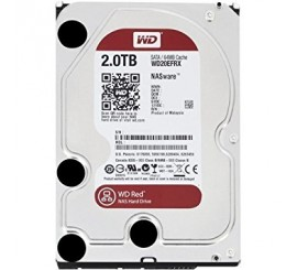 "Disque Dur Interne Western Digital, 3""5 Sata III, NAS 2TO, WD20EFRX Red"