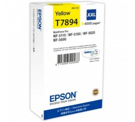 Epson Cartouche Yellow format XXL, 4000 pages, C13T789440