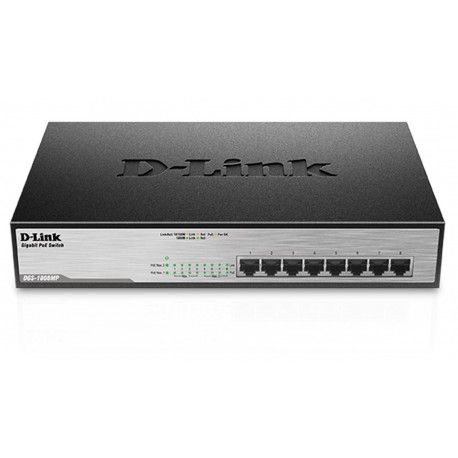 SWITCH D-Link 8-PORT PoE DGS-1008MP