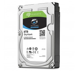 "Disque Dur Interne Seagate SkyHawk 8 To, 3""5, 7200 RPM 64 Mo Serial ATA 6 Gb/s"