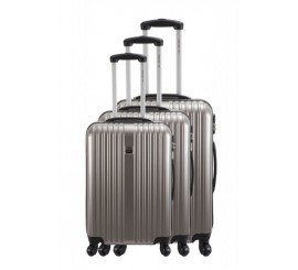 Set de 3 Valises France BAG en Polycarbonate légères, bronze