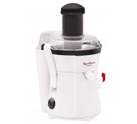 Moulinex Centrifugeuse Frutelia JU350B39, Jus de Fruits ou Légumes, Capacité 0,8L Réservoir Pulpe Extracteur 400W Blanc