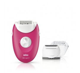 Braun Silk-épil 3 3410 Épilateur électrique Rose