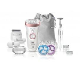 Épilateur Braun Silk-épil 9/980 SkinSpa SensoSmart™ Or rose - Système 4 en 1 épilation, 13 accessoires
